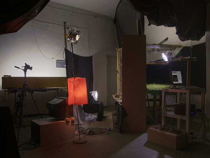 [image: AvW The Cabin [on-time, still life IV], installation view]